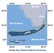Graphic of Florida Keys NMS location