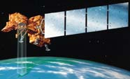 Graphic of LANDSAT satellite