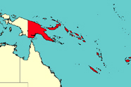 Graphic depicting Melanesia