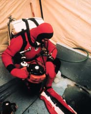 Image of diver in dry suit
