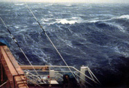 Photograph of the ocean during a gale
