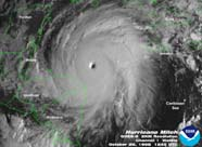 Satellite image of Hurricane Mitch