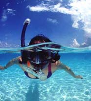 Image of swimmer using snorkel